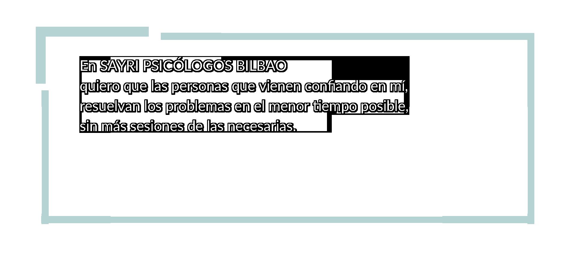 Sayri psicólogos Bilbao